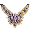Crystal Motifs Necklace Wings Champagne